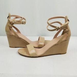 Stuart Weitzman Leatjer Strappy Sandals Wedge 7.5